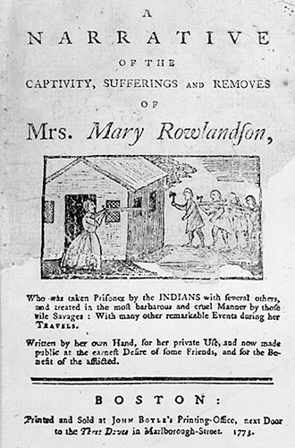 captivity narrative What is a captivity narrative see how much you know about this type of story, as well as mary rowlandson's book, by trying to answer the.