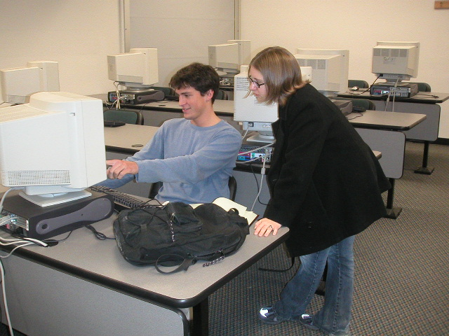 more students working at computer