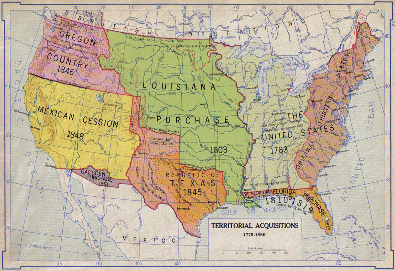 Documents On The Mexican War - Us-map-before-mexican-american-war