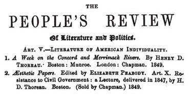 People's Review, 1850